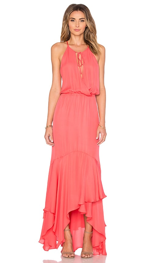 Parker Francesca Maxi Dress in Coral
