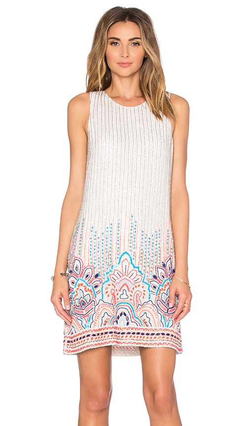Parker Allegra Embellished Dress in Ivory