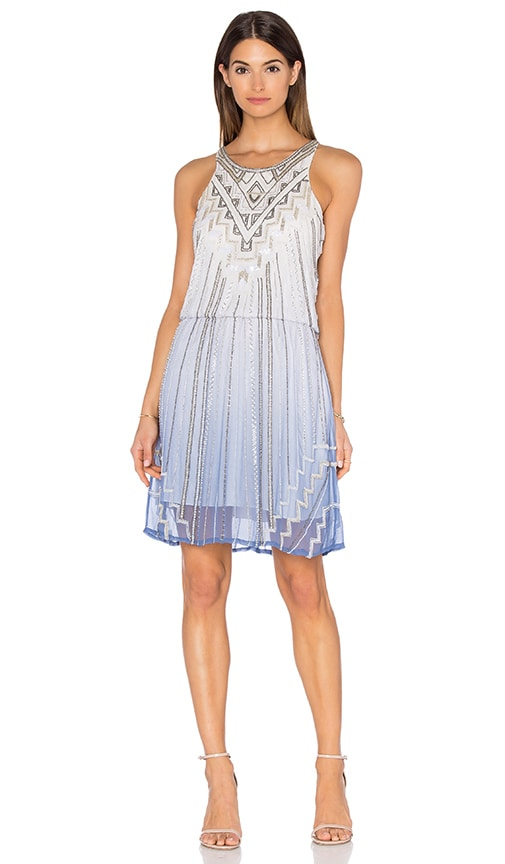 Parker Alma Embellished Dress in White