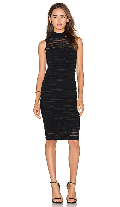 Parker Gemma Knit Dress in Black