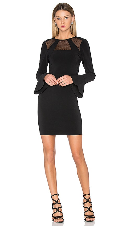 Parker Terriana Combo Dress in Black