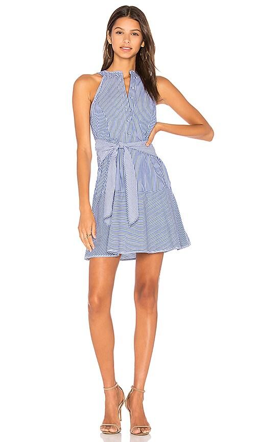 Parker Lauralie Combo Dress in Blue