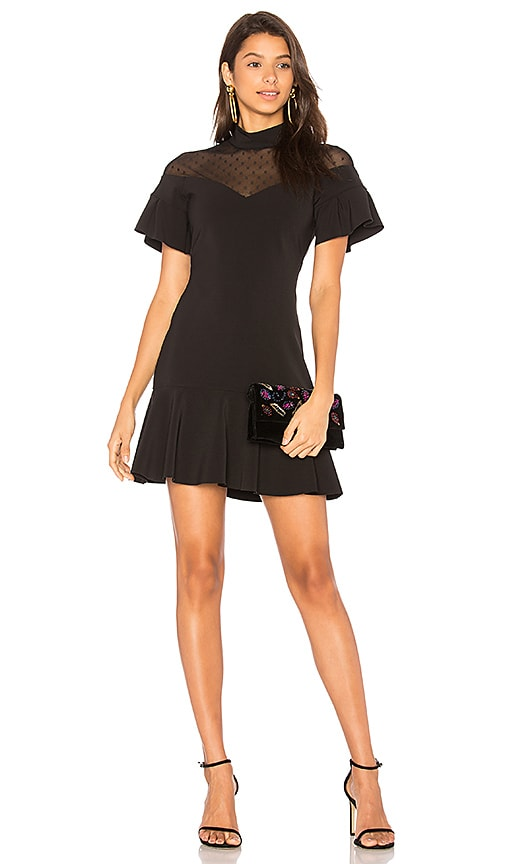 Parker Zoe Combo Dress in Black