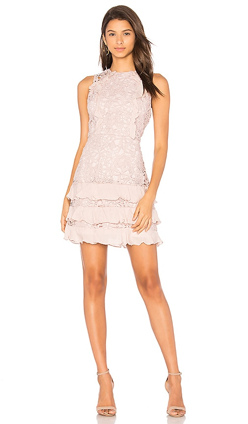 Parker Zahara Ruffle Dress in Pink