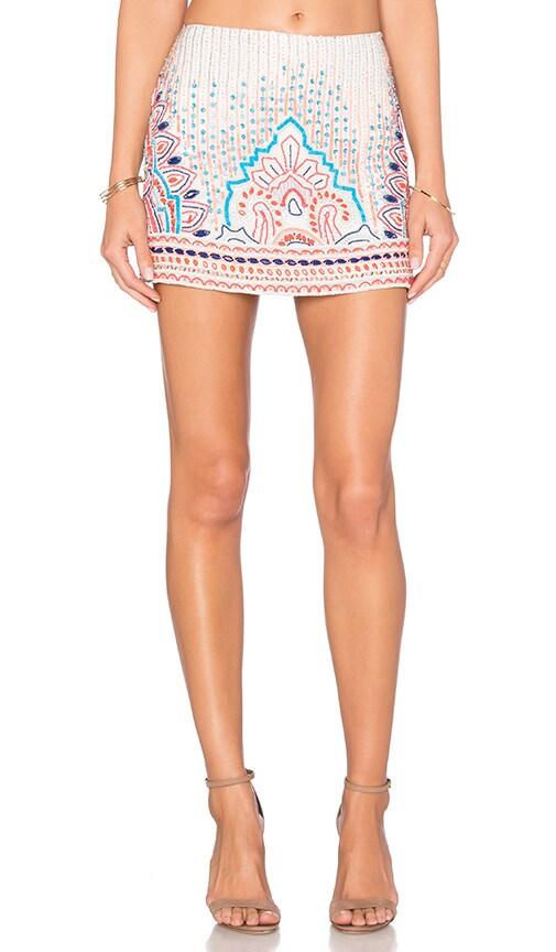 Parker Corsica Embellished Skirt in Cream