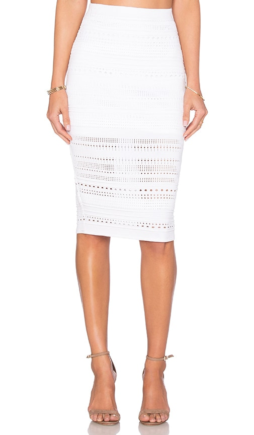 Parker Woodbury Skirt in White