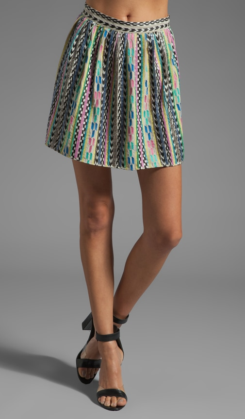 Neon Bugle Sequin Skirt