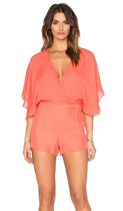 Parker Vicky Romper in Coral