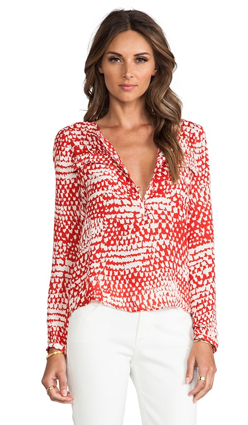 Parker Marissa Blouse in Red