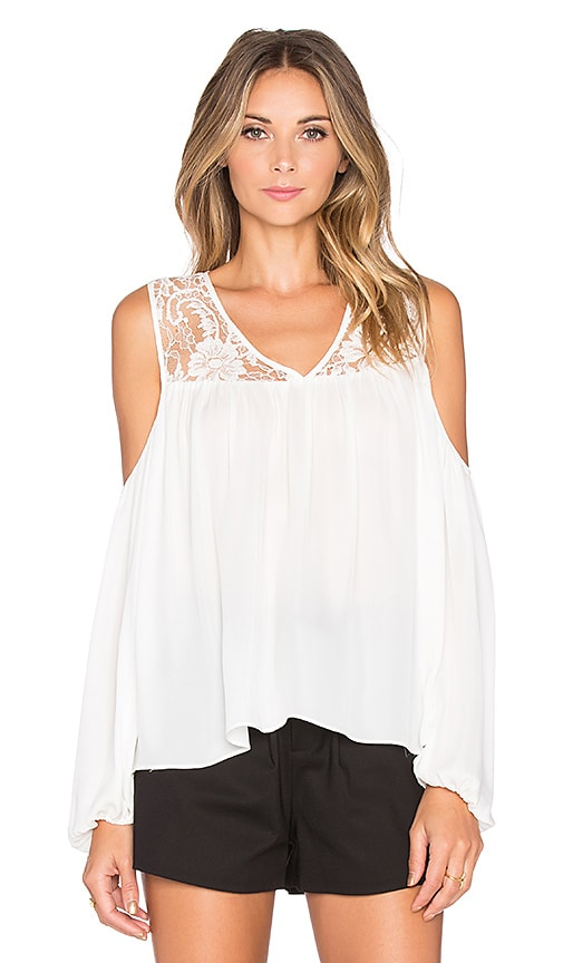 Parker Joanie Blouse in White