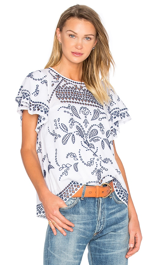 Parker Mara Top in Bright White