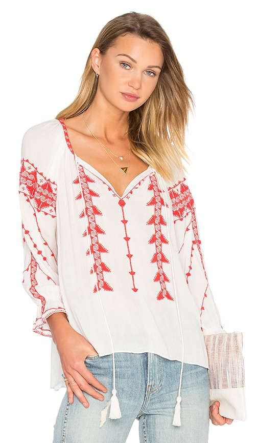 Parker Felicia Blouse in White