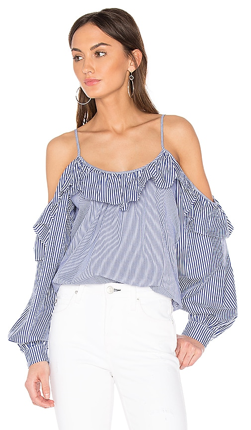 Parker Maureen Combo Blouse in Blue