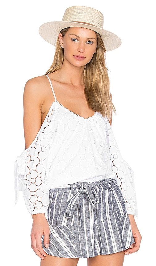 Parker Camila Blouse in White
