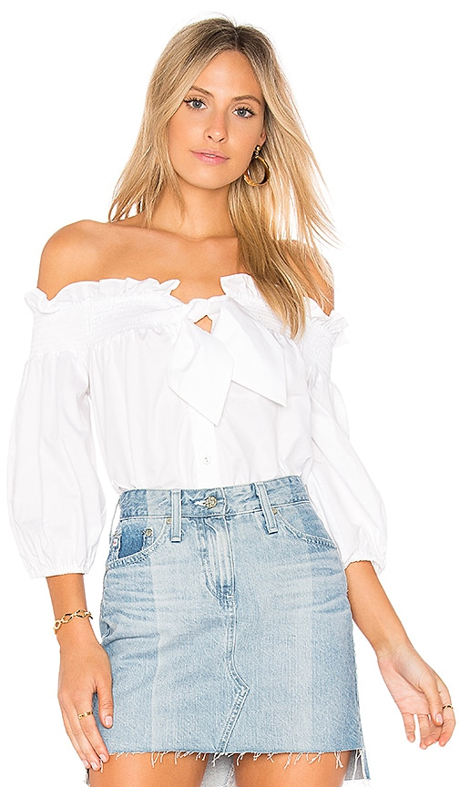 Parker Spade Blouse in Ivory