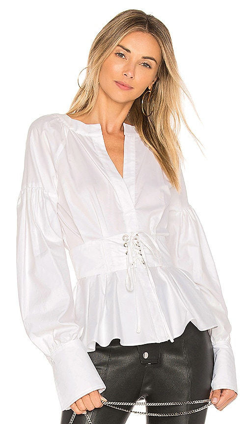 Parker Elena Blouse in White