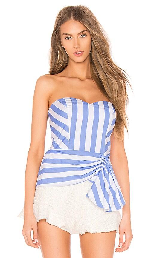 aa51545feeb58d Parker Flora Top in Blue Stripe