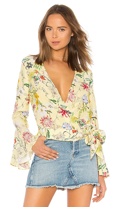 Parker Isabella Blouse in Yellow