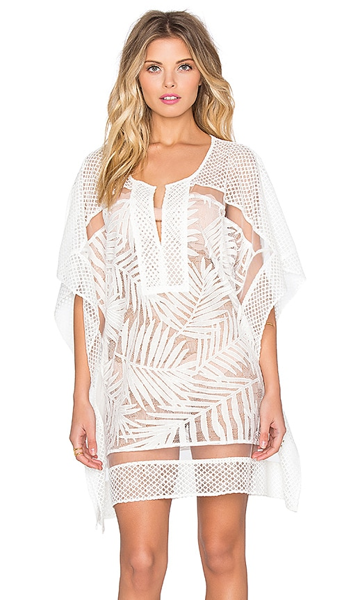 Parker Beach Palm Cover Up in White