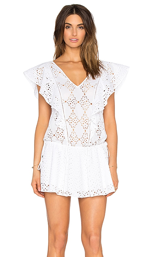 Parker Beach Antigua Embellished Cover Up in White