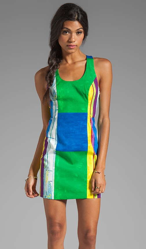 Cubist Watercolor Sexy Shift Dress