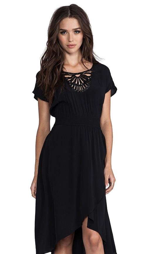 Rayon Crepe Embellished Soft Solids Surplice Dress