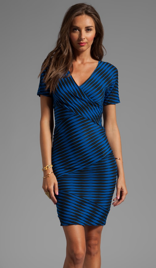 Novelty 2-Tone Twist Jersey Directional Dress