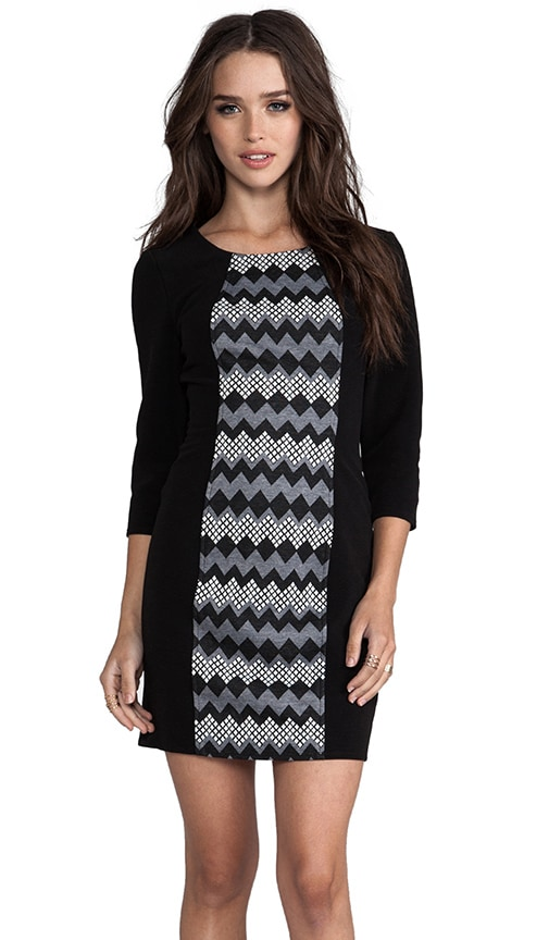 Zig Zag Jacquard Sexy Shift Dress