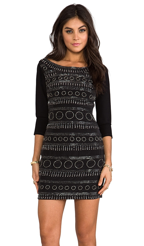 Circular Beaded Shift Dress
