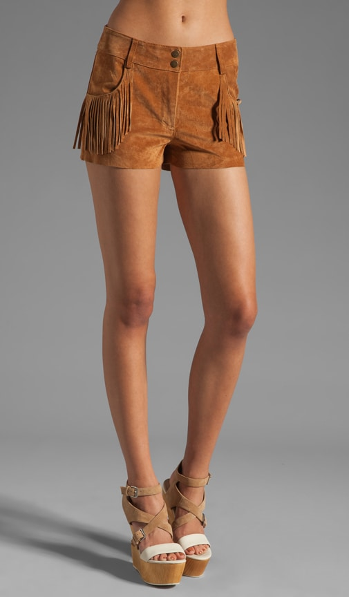 Suede Fringed Short