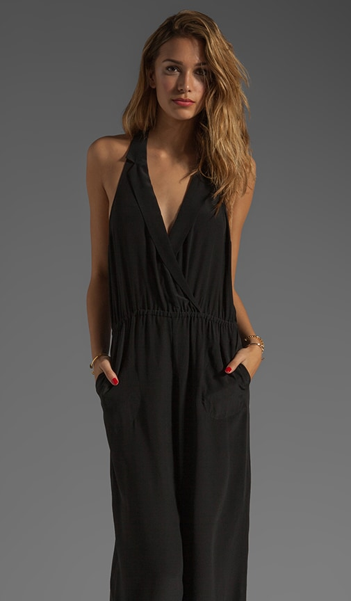 Crepe de Chine Surplice Jumpsuit