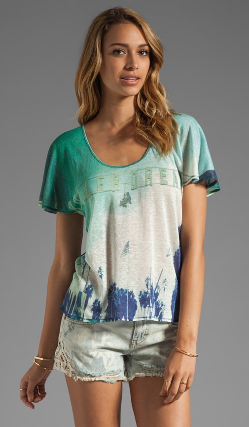 Printed Linen Jersey Soft T