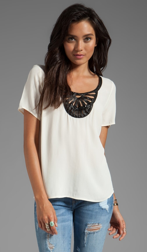 Rayon Crepe Embellished Soft Solids T