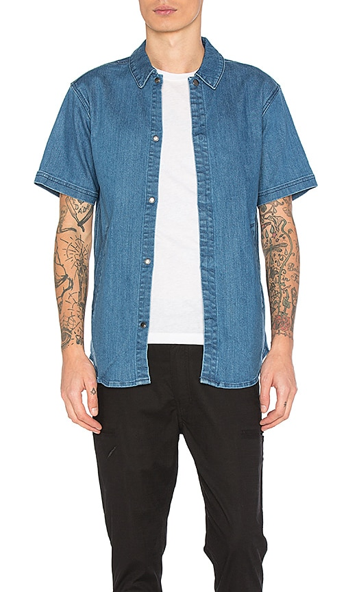 Publish Nikhil Shirt Jacket in Light Indigo