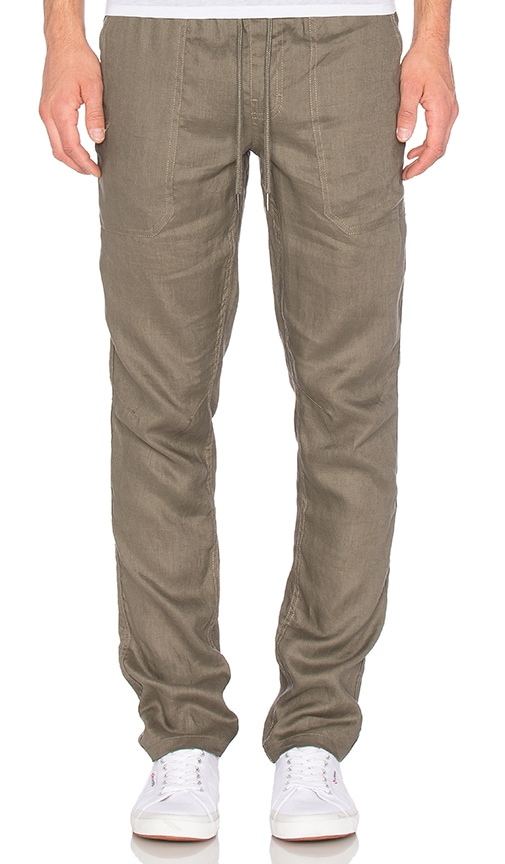 Publish Hash Linen Pants in Olive