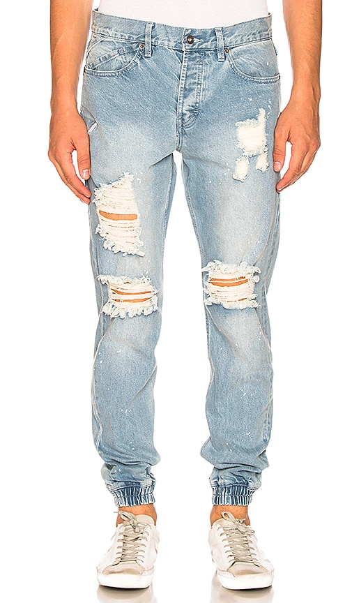 Publish Francis Joggers in Light Indigo Paint Distressed