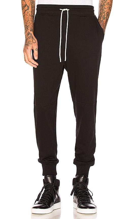 Publish Index Terry Ankle Sweatpant in Black