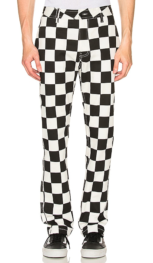Publish Classic Fit Check Pant in Black & White