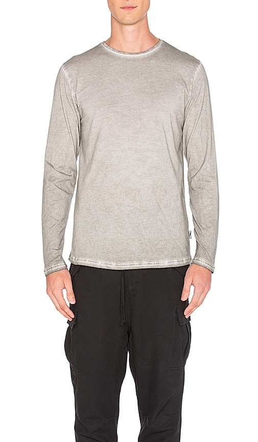 Publish Divo Long Sleeve Tee in Light Gray