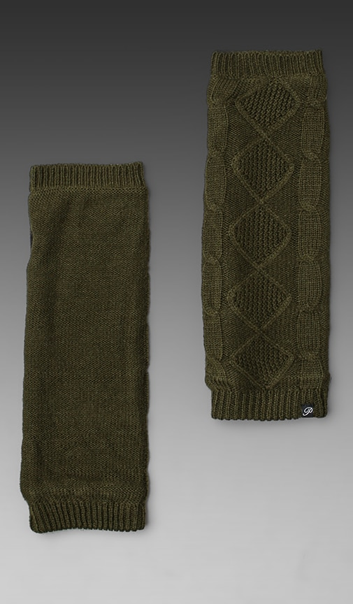Cable Knit Fleece Lined Armwarmer