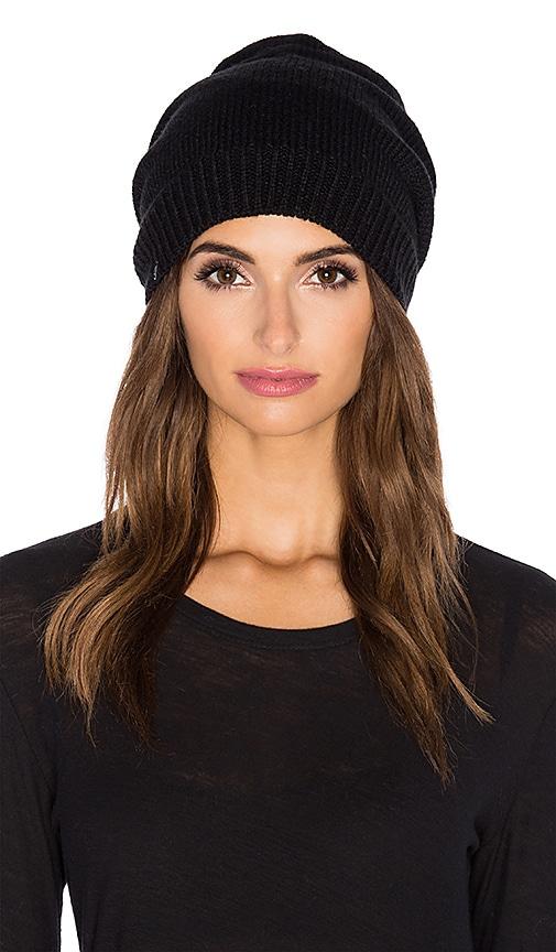704a650e7ca6a Plush Fleece Lined Pom Pom Beanie in Black   Heather Grey