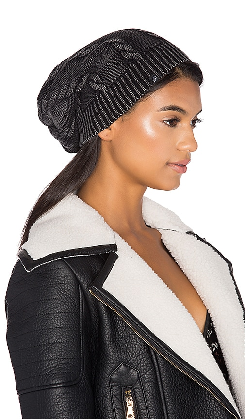 Faded Cable Knit Beanie