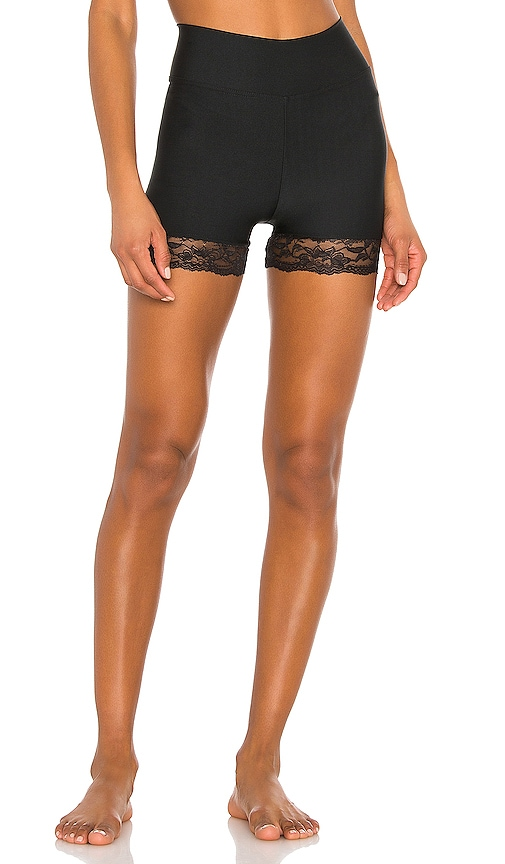 Lace Trim Compression Shorts