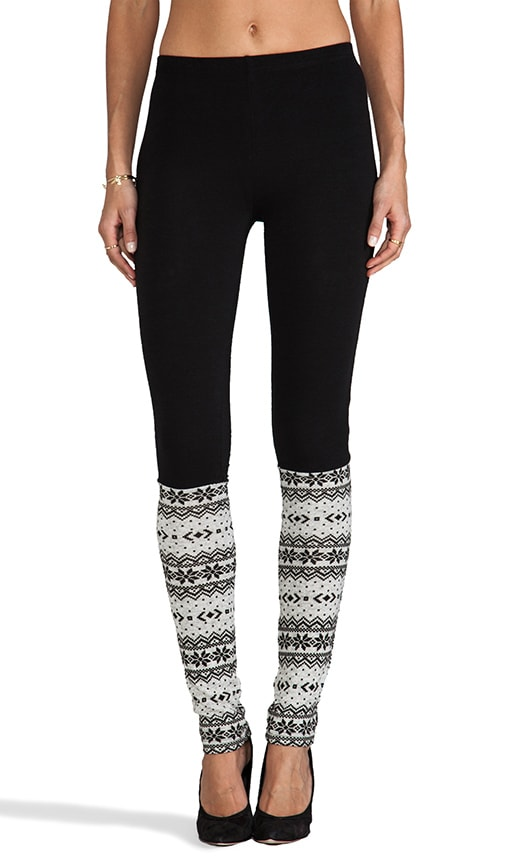 Fair Isle Legwarmer Leggings