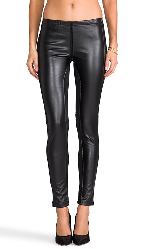 Faux Leather Paneled Legging