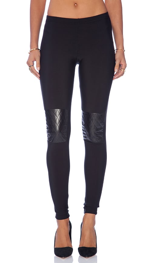 Quilted Knee Patch Legging