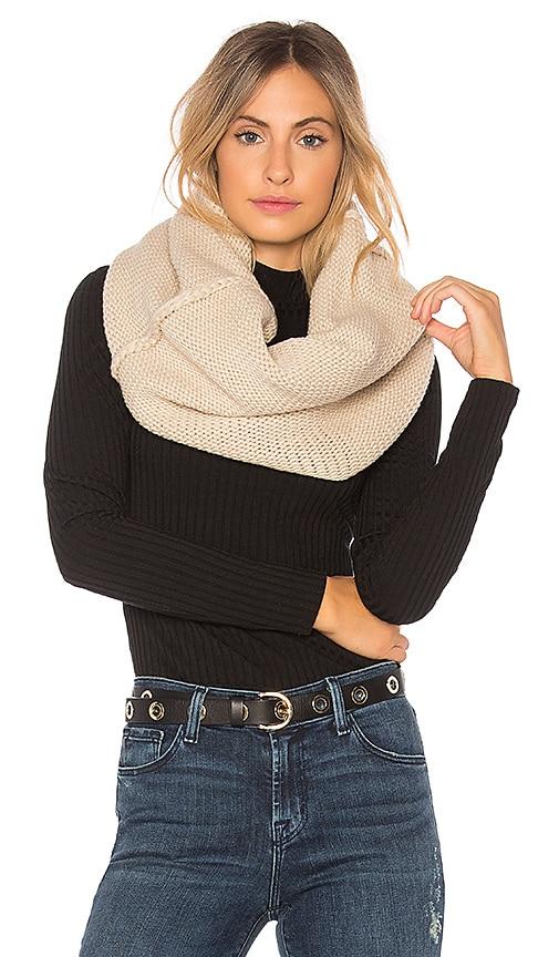 Plush Chunky Knit Neckwarmer in Beige