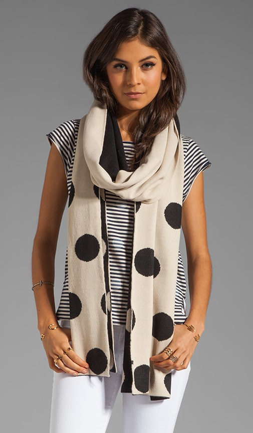 Polka Dot Reversible Scarf