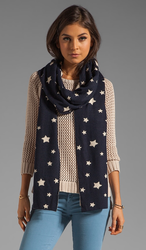 Star Knit Reversible Scarf