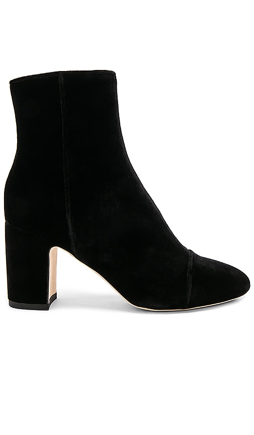 Polly Plume Ally Velvet Bootie in Black